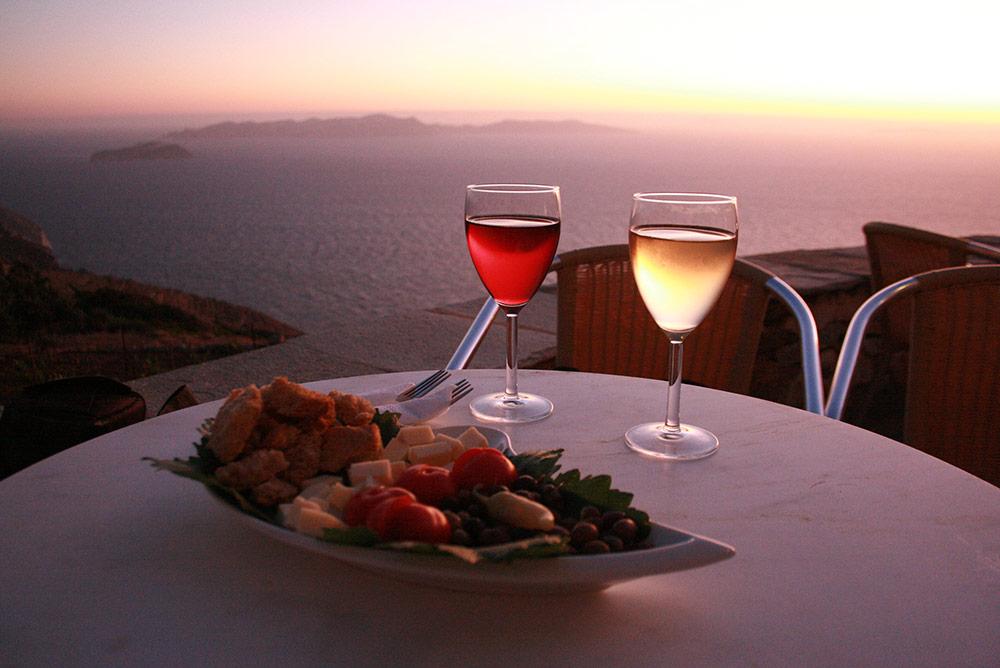 Winery sunset wines
